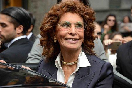 Sophia Loren na Týdnu módy v Miláně.