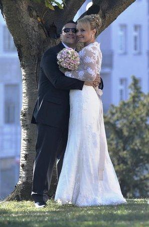 Šťastný David Berdych se v říjnu oženil se svou vyvolenou. Čekala na něho 11 let.