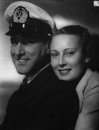 Lída Baarová se svým partnerem Gustavem Fröhlichem