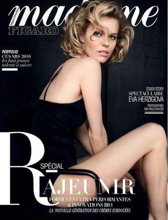 Eva Herzigová na titulce francouzského magazínu.