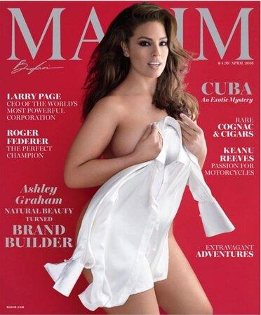 Ashley Graham na obálce Maxim