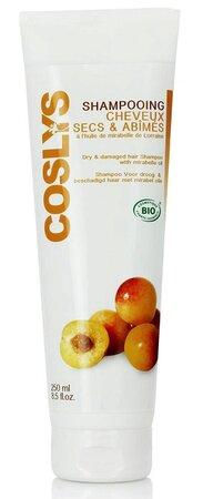 Coslys Šampon pro suché a poškozené vlasy mirabelkový olej, 290 Kč (250 ml), koupíte na www.biooo.cz