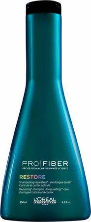 Loréal Šampon PRO FIBER Restore, 329 Kč (250 ml), koupíte v kadeřnictví