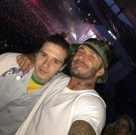 David Beckham se synem Brooklynem