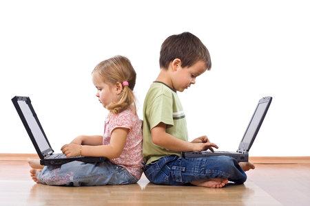 Děti s počítačem