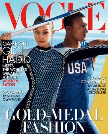Gigi Hadid na obálce srpnového Vogue US
