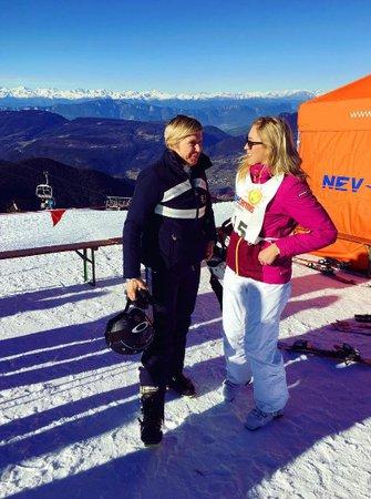 Zorka Hejdová se potkala v italských Alpách s Kateřinou Neumannovou.