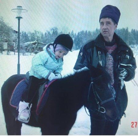 Jedna z archivu: Vivien se svým tátou