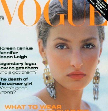 Tereza Maxová na titulce Vogue