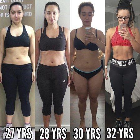 Začala s domácím cvičením, později si najala trenéra a propadla silovému tréninku.