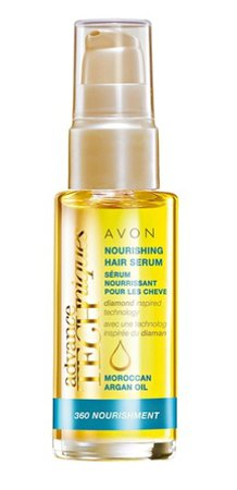 Vyživující sérum na vlasy s marockým arganovým olejem pro všechny typy vlasů, Avon, 69,90 Kč (30 ml). Koupíte na www.avon.cz.