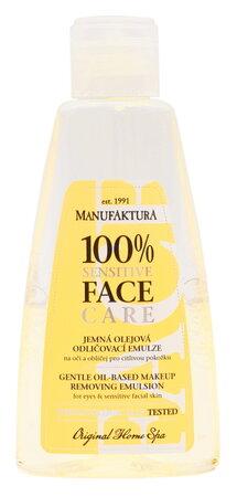 Jemná olejová odličovací emulze na oči & obličej pro citlivou pokožku, Manufaktura, 179 Kč (160 ml). Koupíte v kamenných prodejnách nebo na www.manufaktura.cz.