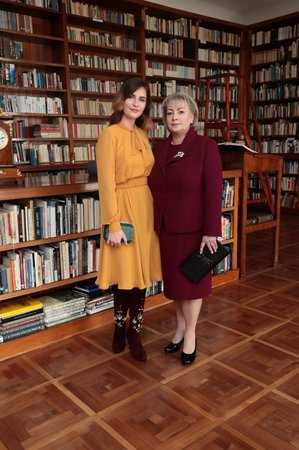 8. 3. 2018: Ivana Zemanová, manželka Miloše Zemana s dcerou Kateřinou během inaugurace (8. 3. 2018)