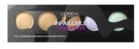 Paletka korektorů Infaillible Total Cover Concealer, L´Oréal Paris, 479 Kč. Koupíte v síti drogérií.