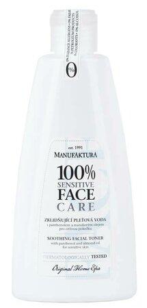 Zklidňující pleťová voda s panthenolem a mandlovým olejem pro citlivou pokožku, Manufaktura, 119 Kč (255 ml) Koupíte na www.manufaktura.cz.