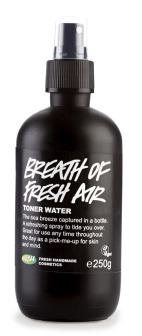Pleťová voda Breath of fresh air, Lush; 185 Kč (100 ml) Koupíte na https://cz.lush.com.