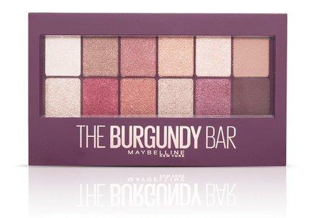 Paletka stínů Burgundy Bar, Maybelline, 349 Kč. Koupíte v síti drogérií.