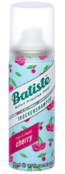 Suchý šampon s ovocnou vůní Batiste Cherry, 39 Kč (50 ml). Koupíte na www.parfemy-elnino.cz.