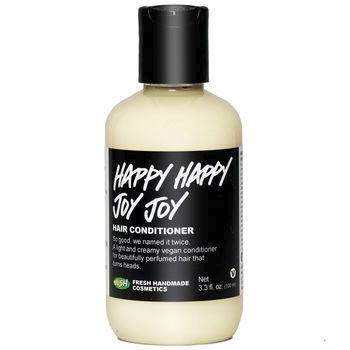 Vlasovı parfém a kondicionér Happy Happy Joy Joy, Lush, 425 Kč (100 ml). Koupíte na http://cz.lush.com.