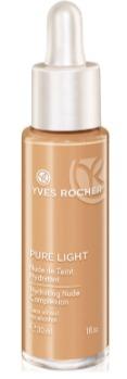 Lehký rozjasňující make-up Pure Light, Yves Rocher, 429 Kč. Koupíte na www.yves-rocher.cz nebo v kamenných prodejnách.