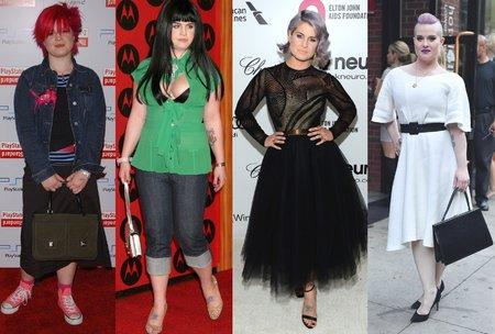 Kelly Osbourne v roce 2002, 2004, 2014 a 2017