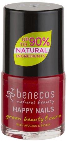 Lak na nehty Benecos, odstín vintage red, 89 Kč, koupíte na www.milujubio.cz
