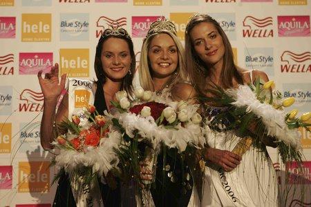 2006 V soutěži krásy Miss ČR získala korunku první vicemiss.