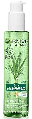 Intenzivní čisticí gel s esenciálním olejem z citronové trávy a s aloe vera Garnier Bio, 129 Kč (150 ml), koupíte v síti drogérií