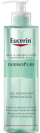 Čistící gel pro problematickou pleť Eucerin Dermopure, 496 Kč (400 ml), koupíte v síti lékáren