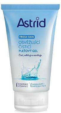 Osvěžující čisticí pleťový gel Fresh Skin, Astrid, 69 Kč (150 ml), koupíte v síti drogérií