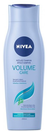 Pečující šampon Volume Care, Nivea, 61 Kč (250 ml), koupíte v síti drogérií