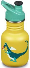 Dětská nerezová lahev Klean Kanteen Kid Classic w/Kid Sport Cap 3.0 - dragon snack matte 355 ml, cena 550,-, prodává skibi.cz Praktická dětská lahev o objemu 355 ml z potravinářské nerezové oceli 18/8 do města i do přírody. Zdravá a k životnímu prostředí šetrná alternativa k plastovým a hliníkovým lahvím. Nové až 4x odolnější provedení povrchové úpravy.