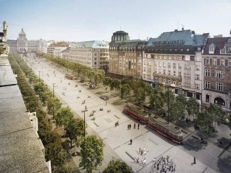 Nové Václavské náměstí by mělo podle tvůrců být příjemnější pro pohyb a dostupnější hromadnou dopravou.