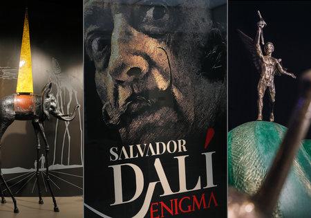 Patnáct soch nevyčíslitelné hodnoty, na padesát grafik surrealistického velikána Salvadora Dalího (†84), to je unikátní výstava Enigma.