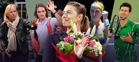 Tenisové hvězdy se loučí s Marií Šarapovovou