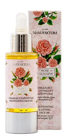 100% přírodní a omlazující pleťový olej Růže, Manufaktura, 429 Kč (30 ml