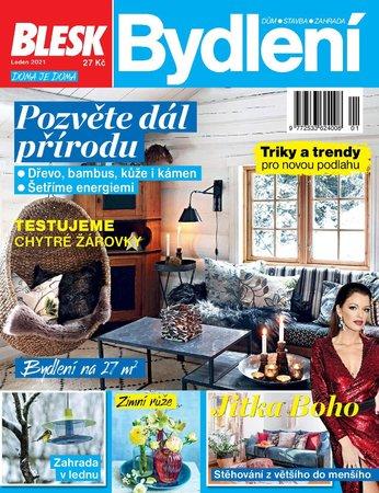 Titulní strana časopisu Blesk Bydlení na leden 2021