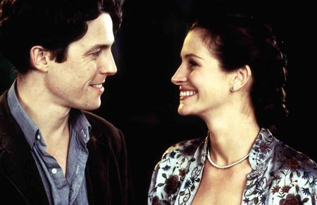 Julia Roberts a Hugh Grant ve filmu Notting Hill