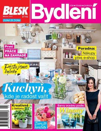 Titulní strana magazínu Blesk Bydlení na měsíc březen 2021
