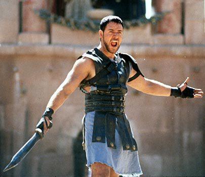 Russell Crowe ve filmu Gladiátor (2000)