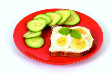 Chléb s vejcem