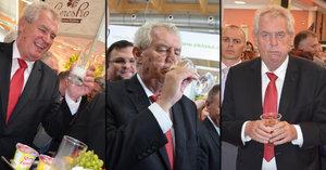 Zemanův náročný program na Zemi živitelce: Pivo, víno, mléko...