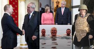 Letem světem s prezidentem: Kam zavítal kromě kontroverzního Ruska a Číny?