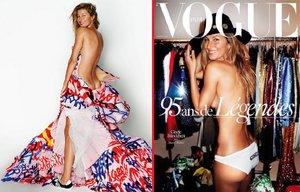 Božská Gisele na obálce Vogue jen v kalhotkách