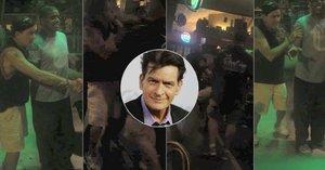 Opilec Charlie Sheen znovu úřadoval: Fanouškovi zničil telefon a ještě se s ním popral!