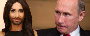 Transvestita Conchita Wurst: Putin se mi líbí, ale je samá plastika