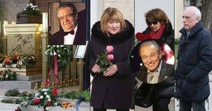 Pohřeb Gottova přítele: Poslední sbohem přišli dát jen Simonová, Filipovská a Županič!