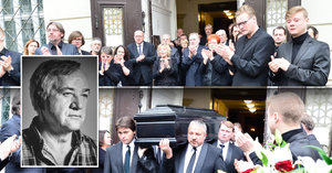 Potlesk za mizející rakví: České hvězdy plakaly na pohřbu režiséra Rajmonta (†70)
