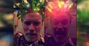 Ze Schwarzeneggera je stromeček! Terminátorovy ujeté Vánoce