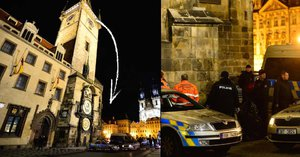 Sebevražda skokem z pražského orloje? Pád natočily kamery
